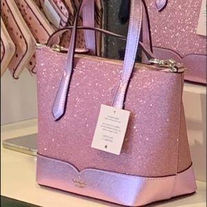 Kate spade Lola glitter crossbody bag pink